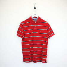 Mens TOMMY HILFIGER Striped Polo Shirt Red | Small