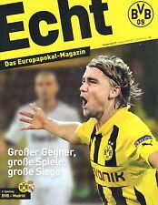 Programm Stadionheft 16/17 Borussia Dortmund Real Madrid BVB CL UEFA EC 27.9.16