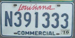 LOUISIANA License Plate - Man Cave - Bar -  Garage  N 391333  Triple 3 s