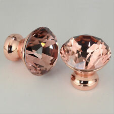 12pcs/set Crystal Cabinet Drawer Door Knob Unique Color Pull Handle Rose Gold