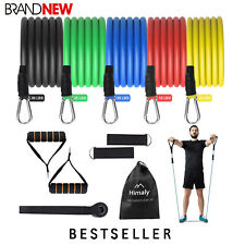 11 Pcs Resistance Bands Fitness Set Exercise with Handles Home Gym Tubes Workout