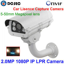 2MP Car License Plate Capture Recognition 1080P LPR IP Camera 5-50MM 3.0MP lens