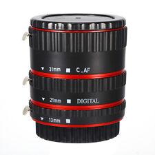 Rossa AF Auto Fuoco Tubo Macro Prolunga Anello Per Canon EF EFS Lens