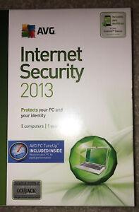 New AVG Internet Security 2013  3 PCs 1 Year