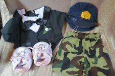 BUILD A BEAR ~ LOT OF 4 CLOTHING ITEMS ~ TUX, SHORTS, SHOES & HAT
