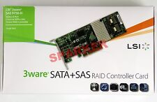 LSI Logic Controller Card 3ware SAS 9750-8i 8Port 6Gb/s PCI-Express New In Box