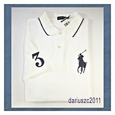 POLO RALPH LAUREN $125 SIZE 2XLT SHORT SLEEVE BIG PONY POLO SHIRT WHITE/NAVY