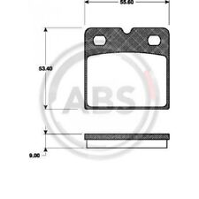 A.B.S. Brake Pad Set, disc parking brake 37467