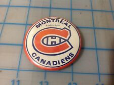 Vtg MONTREAL CANADIENS 1969 NHL Services  Pin Button (M)