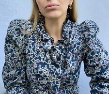 Isabel Marant Ruffle Print Blouse 38 Uk 10 Rrp £260