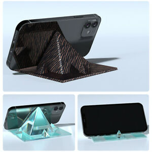 DIY Pyramid Resin Mould Cell Phone Holder Silicone Stand Mold Craft Making Tools