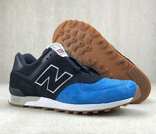 New Balance 567 M576PNB Retro Shoes Blue Navy Suede White Gum England Mens Sz 9