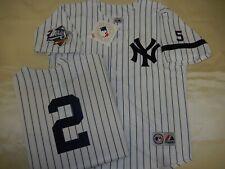 0728 Majestic 1999 World Series New York Yankees DEREK JETER Sewn JERSEY