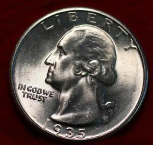 Uncirculated 1935 Philadelphia Mint Silver Washington Quarter