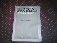 Toyota Factory Chassis Manual for Corona Mark II  printed in 1971