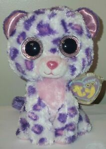 NMT* Ty Beanie Boo's - GLAMOUR the Leopard (6 Inch)(Justice Exclusive) MWNMT