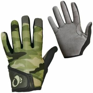 New Pearl Izumi Junior MTB Full Fingers Kids Gloves Green Camo Medium