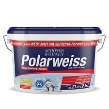 Schöner Wohnen Polarweiss matt Innenfarbe Wandfarbe Deckenfarbe 2,5 L
