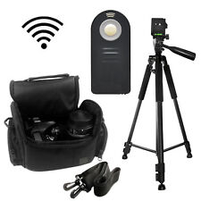 "Pro 60"" Tripod with Deluxe SLR Camera Bag + Wireless Remote f/Nikon D5200,D5100"