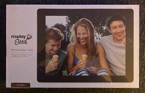 Nixplay Seed WIFI Cloud Picture Frame 10 Inch Widescreen New! Sealed! Mulberry!
