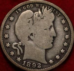 1892-O New Orleans Mint Silver Barber Quarter