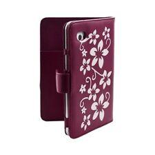 Housse coque étui pour Samsung Galaxy Tab 7 Plus P6200 motif Fleur couleur Rose