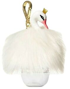 BATH & BODY WORKS White Swan Princess POCKET *BAC Hand Gel Holder NWT BBW New