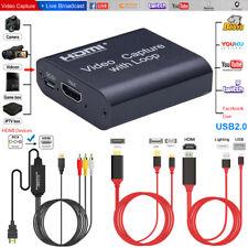 HDMI Video Capture Card Screen Record USB2.0 1080P Game Facebook Webcam Streamer