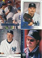 David Wells Lot of 4 different NY Yankees baseball cards