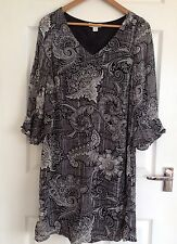 Monsoon Regular Size 3/4 Sleeve Round Neck Dresses for Women