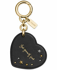 "Coach Selena Gomez Heart Bag Charm Key-Chain ""Love Yourself First""  New with Tag"