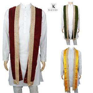 Men's Indian Fancy Velvet Scarves Sherwani Stole Dupatta - MVS01