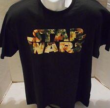 STAR WARS Men's Black Logo Short Sleeve Tee Shirt Size M