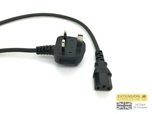 UK Mains Power Lead Cable for Samsung LED TV 3 Pin IEC 2m Black