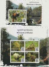 Bhutan 2019 wildlife animals mammals red panda monkeys etc klb+s/s Mnh
