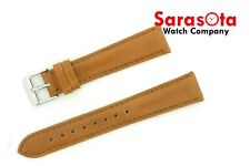 deBeer Genuine Leather 19 mm Honey Stitched Plain Wristwatch Band