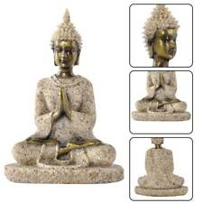 Meditative Seated Buddha Statue Sandstone Decor Figurine Furnishing Article Hot