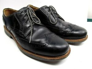 Cole Haan Grand OS Wingtip Derby  Mens Black  8 M Shoes