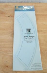 New Shrink Wrapped EZ Double Wedding Ring Solid Arc Quilting Template
