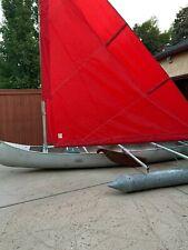 17' Grumman Aluminum Sailing Canoe (Canoe / Sailboat Combo)