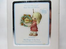 Precious Moments My Hope is in You 2010 Girl Wreath Christmas Ornament (101002)
