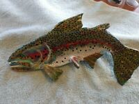 "2019,**For Sale**, ""Rainbow Trout"", Curved 1/3, 13 1/2 inch, **Spring Colors**"