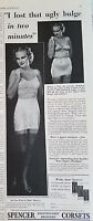 1938 Vintage SPENCER CORSET High Waist Girdle Bra Original Fashion Ad