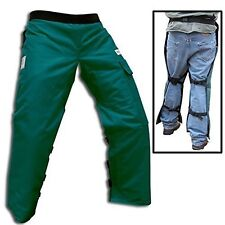 """Forester Chainsaw Safety Chaps with Pocket, Apron Style (Short 35"""", Forest Gr..."""