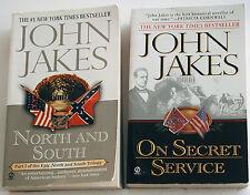 Lot of John Jakes Civil War PB's NORTH AND SOUTH & ON SECRET SERVICE VGC