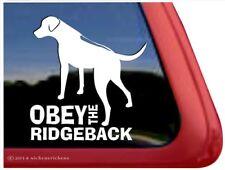 Obey the Ridgeback |High Quality Rhodesian Ridgeback Vinyl Dog Decal Sticker