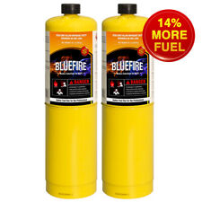 BLUEFIRE 2x MAPP MAP PRO Gas Fuel Cylinder,16.1oz,14% Bonus,Hotter than Propane!