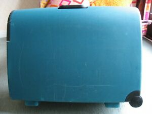 Suitcase On Wheels, Luggage Case by Carlton Hard Shell Colour Green