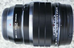 Olympus M.Zuiko Digital ED 25mm F1.2 PRO Lens - Black