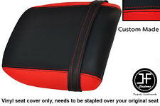 BLACK AND RED VINYL CUSTOM FITS DUCATI 748 916 996 998 REAR PILLION SEAT COVER